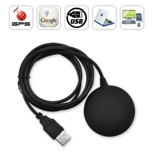 Portable USB GPS Receiver Support Plug and Play + Fast Acquisition Time